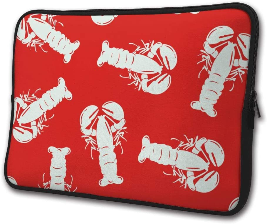 SWEET-YZ Laptop Sleeve Case Red Lobster Notebook Computer Cover Bag Compatible 13-15 Inch Laptop
