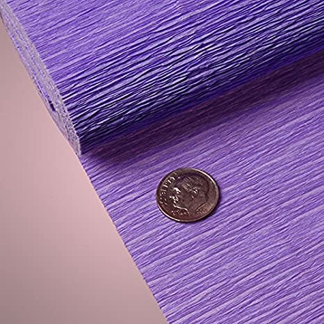PREMIUM COLORED CREPE PAPER - Top quality Italian paper craft (Plum) Queen of Wrap