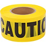 TopSoon Barricade CAUTION Tape Warning Tape Bright Yellow 3-Inch by 1000-Feet Roll Non-Adhesive