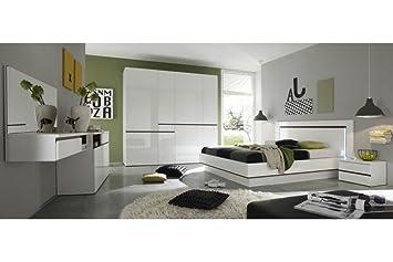 Arthauss Marke New Moderne Schlafzimmer Möbel Set Neve Kleiderschrank Mit  5, Sideboard, Bett,