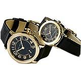 [マーク ジェイコブス] MARC JACOBS 腕時計 ライリー RILEY MJ1475/1471 ブラック/ゴールド ペアウォッチ [並行輸入品]