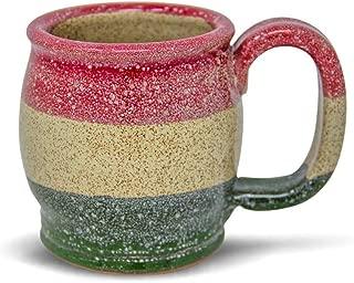 product image for Handmade Stoneware Coffee Mug Poinsettia 14oz