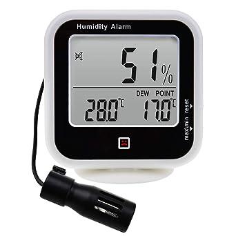 Higrómetro Digital Para Interiores Y Exteriores, Termómetro Con Sonda Remota De Control De Humedad De