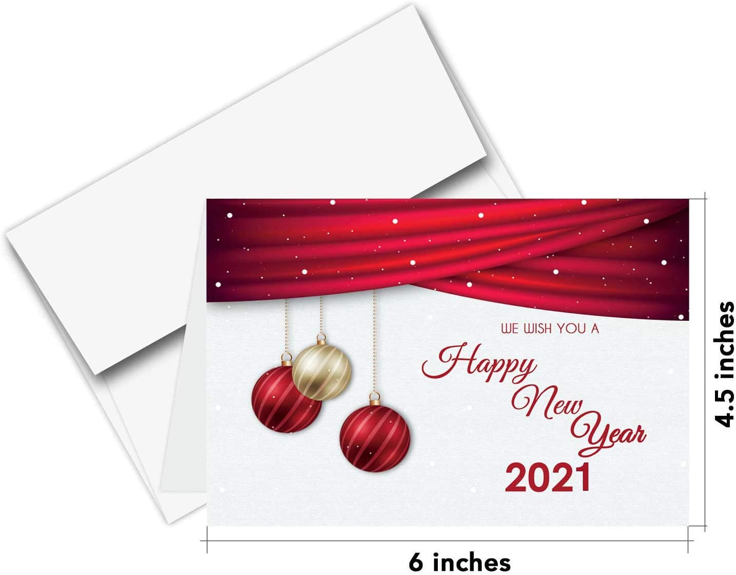 amazon com 2021 happy new year cards envelopes christmas holiday xmas new yrs red thank you greeting card set 25 half fold cards a6 envelopes 4 5 x 6 inches office products 2021 happy new year cards envelopes christmas holiday xmas new yrs red thank you greeting card set 25 half fold cards a6 envelopes 4 5 x