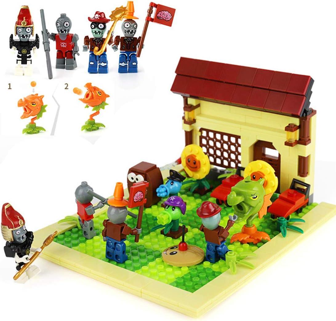 MAGMABRICK Plants Vs Zombies: Zombie Set y Plant 4X4 Battle Stage Building Compatible con Lego: Amazon.es: Juguetes y juegos