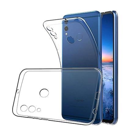 XTCASE Funda Huawei Honor 8X Silicona Transparente, Ultrafina Suave TPU Carcasa para Huawei Honor 8X Delgado Flexible Protectora Case Cover ...