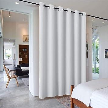 RYB HOME Separadores Ambientes Interior Salon Dormitorio Modernos Blanco Gris/Cortinas Largas Grandes Termicas Aislantes