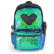 Magic Reversible Sequin School Backpack,Sparkly Lightweight Back Pack for Girls and Boys,...