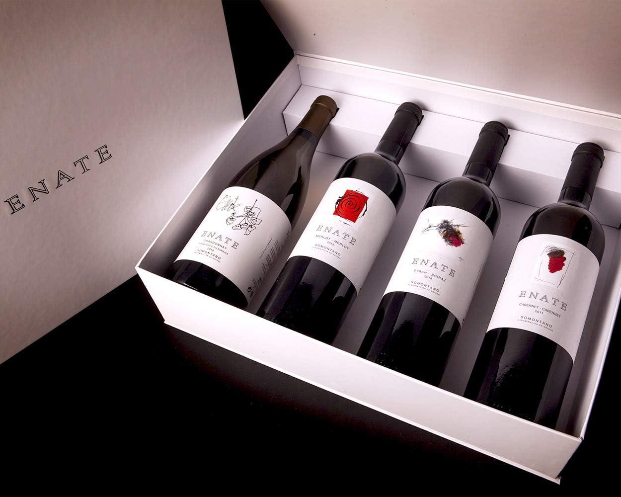 Estuche ENATE Monovarietales de 4 Botellas de 75 cl, Vino Tinto y Vino Blanco, DO Somontano, Vinos de Crianza: Amazon.es: Alimentación y bebidas