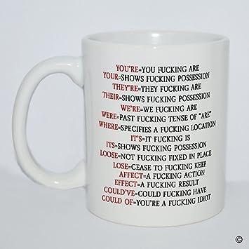 Amazoncom Msmr Funny White Mug Quotes Mug Youre You Fucking Are