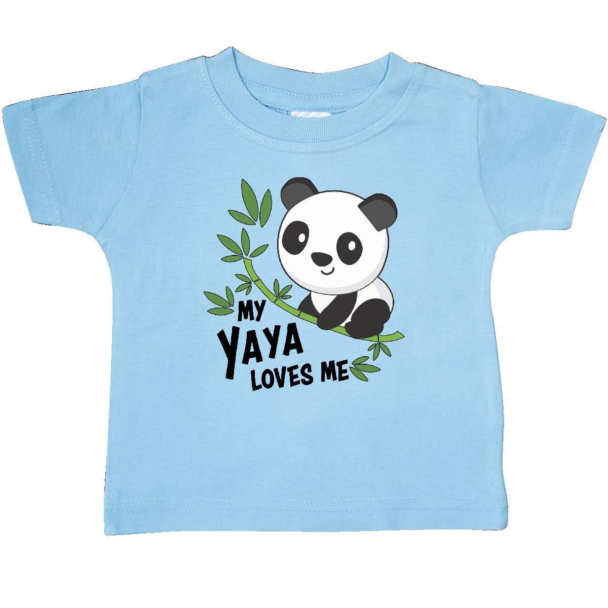 inktastic My Yaya Loves Me Cute Panda Baby T-Shirt