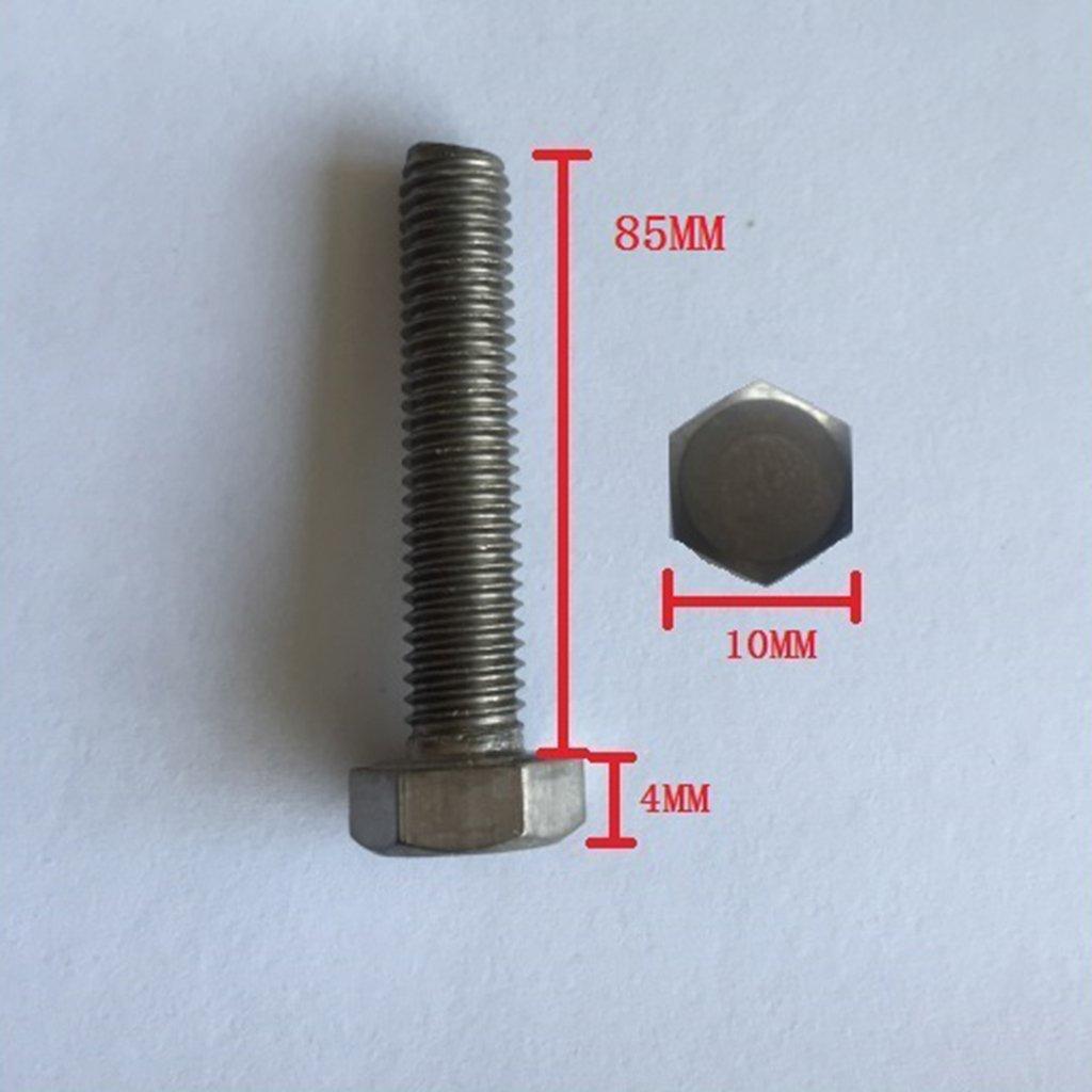 MagiDeal Set de 10 Piezas Cr1 Cabeza de Titanio Hexagonal Tornillo Roscado M6x25