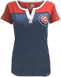 d29d2062 Amazon.com : New Era Chicago Cubs Women's Logo Lace Up V-Neck T ...