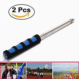 Haol 1.2M / 2MFlag Windsock Portable Sponge telescopico palmare Flag Pole Baton,Blue,1.2M