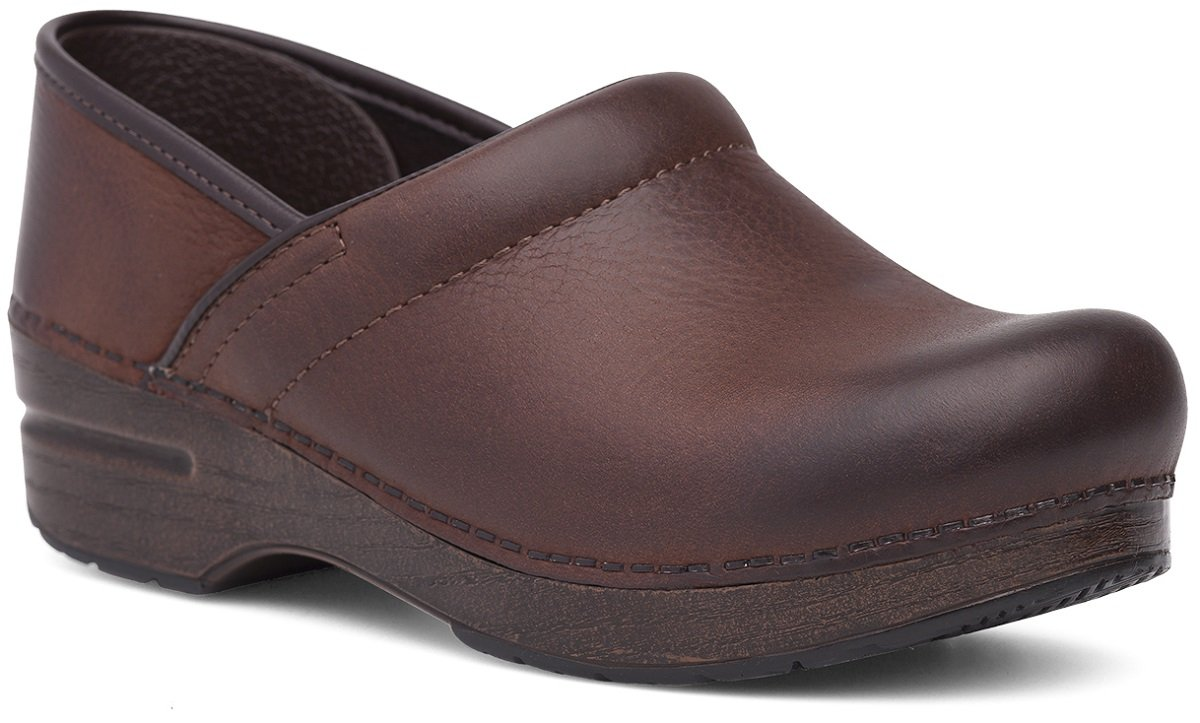 Dansko Women's Professional Mule B077VYK5GK 41 EU/10.5-11 M US|Brown Burnished Nubuck