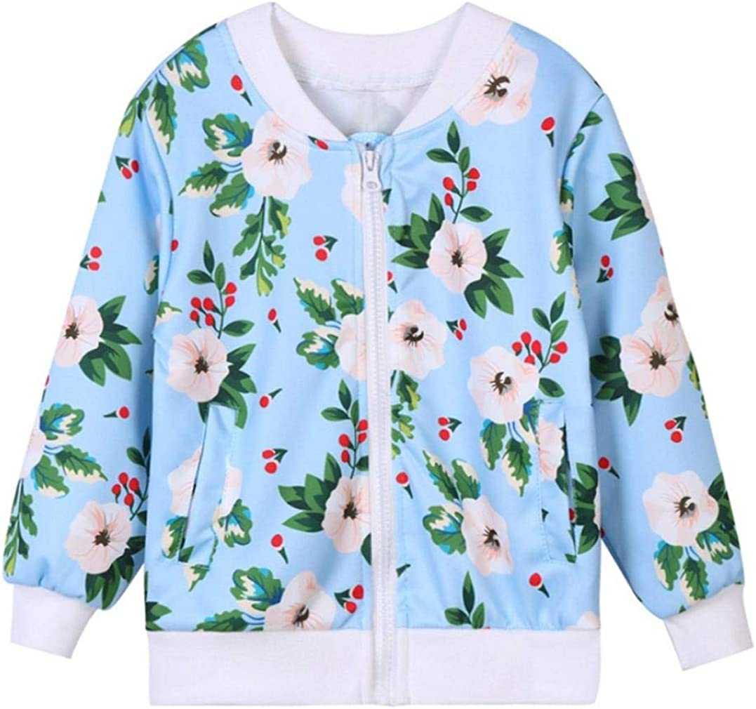 Toddler Baby Girls Boys Clothes Set Floral Print Zipper Tops Coat Pants Outfits Palarn Baby Clothes
