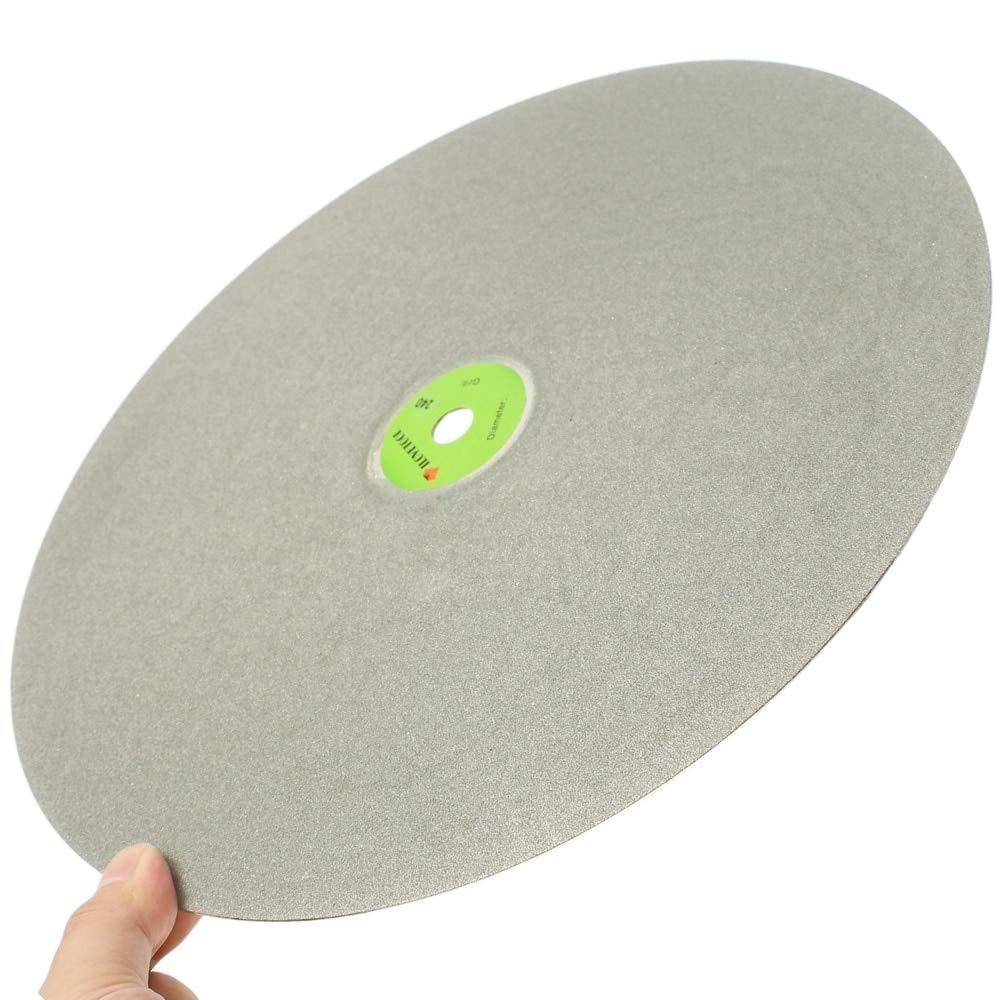 Maslin 18'' inch Grit 60-600 Diamond Grinding Disc Abrasive Wheel Coated Flat Lap Disk ILOVETOOL - (Grit: 100 Coarse)