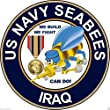 US Navy Seabees Iraq Veteran Bumper Sticker Laptop Sticker Round by BIKERSTUFFUS