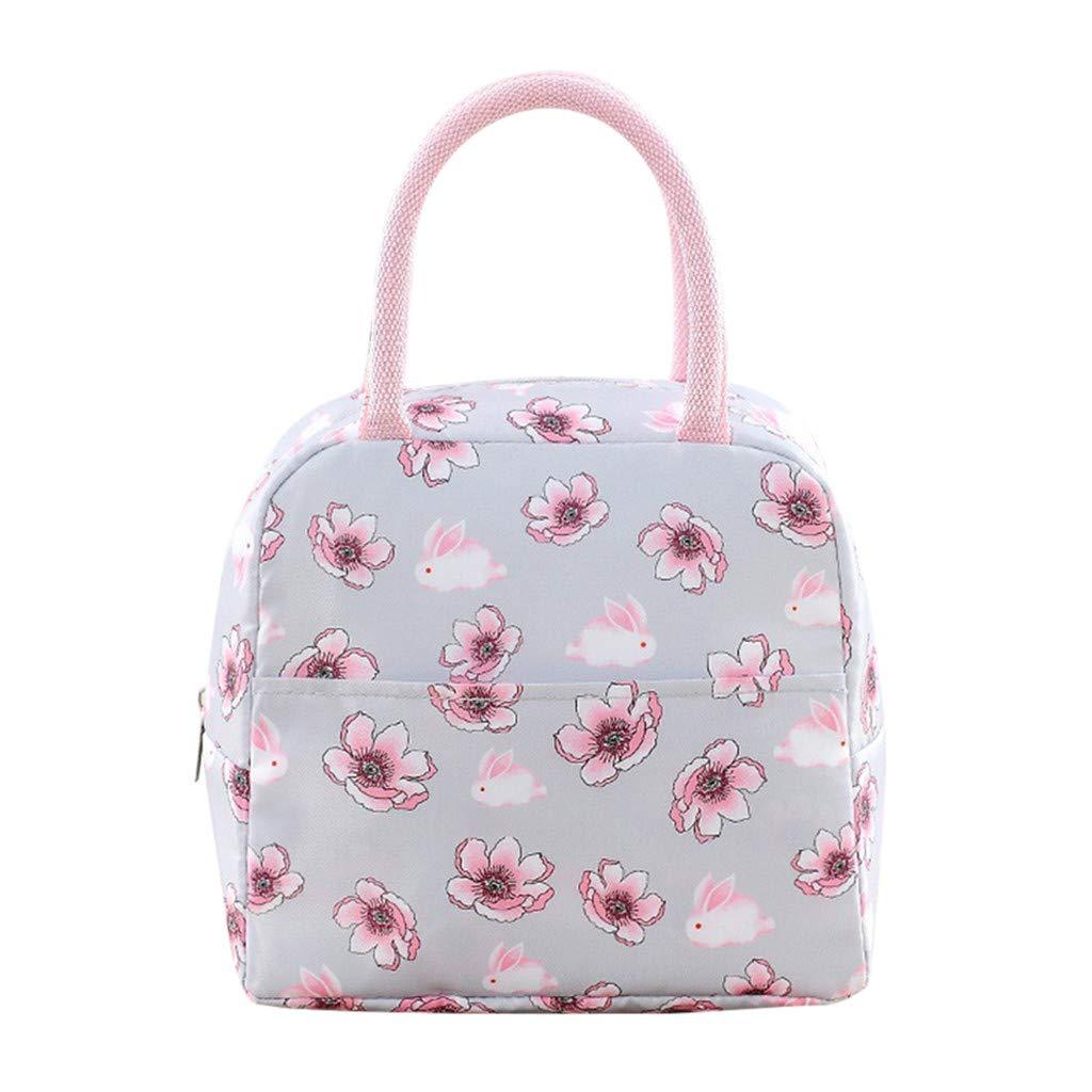 Fahooj Borsa Termica Moda Style Borsa Termica Pranzo Ufficio Borsa Termica Bambini Rosa