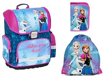 6b17cfe936 Frozen Anna ELSA Schulranzen Mädchen 1 Klasse Tornister Schulrucksack  Schultasche Set 3 tl für Grundschule super
