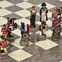 Hand Painted Napoleon & The Duke of Wellington Chessmen