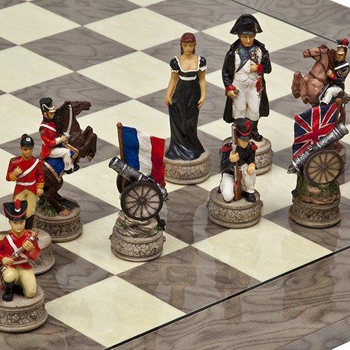 (Hand Painted Napoleon & The Duke of Wellington Chessmen )