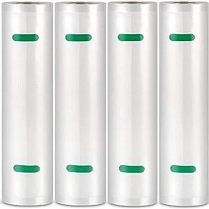 Segulah 4 Pack Vacuum Sealer Bag Rolls In 11