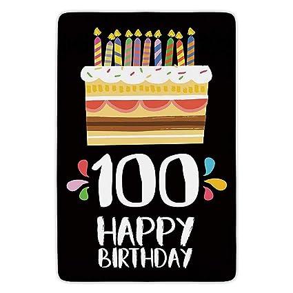 XIAOYI Bathroom Bath Rug Kitchen Floor Mat Carpet100th Birthday DecorationsOld Legacy 100
