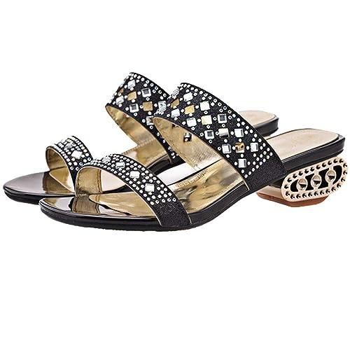 TAOFFEN Womens Slide Open Toe Sandals Shoes