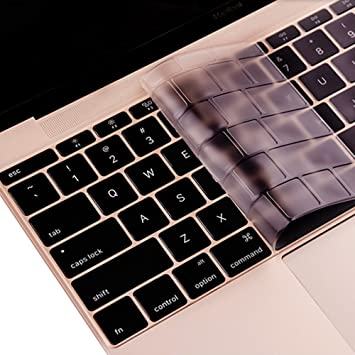 """Black Keyboard Cover Silicone for MacBook 12/"""" with Retina Display A1534 2015 NEW"""