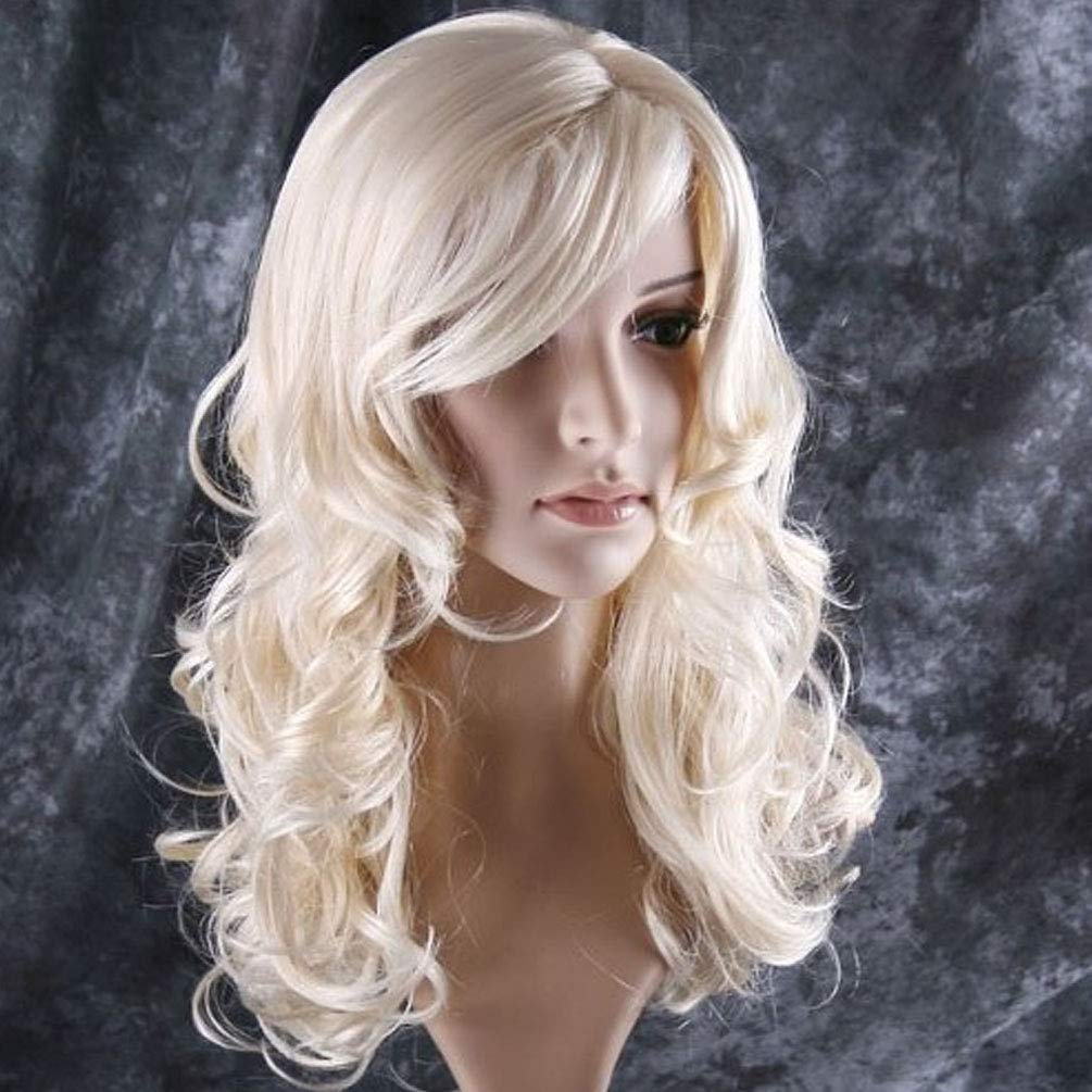 BERON 24'' Stylish Long Curly Blonde Hair Wig Party Perruque (Blonde) by BERON