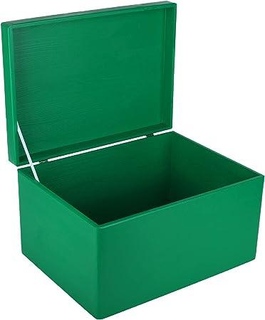 Creative Deco XXL Verde Grande Caja de Madera para Juguetes | 40 x ...