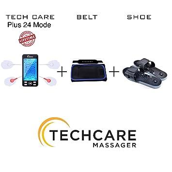 [Lifetime Warranty] Tech Care Plus 24 Modes Tens Unit Massager Rechargeable Unit Electric Complete Set + Fat Burner Belt + Reflexology... by Tech Care Massager