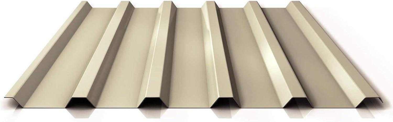 Dachblech Material Stahl Profil PS35//1035TR Trapezblech Profilblech St/ärke 0,50 mm Beschichtung 25 /µm Farbe Hellelfenbein