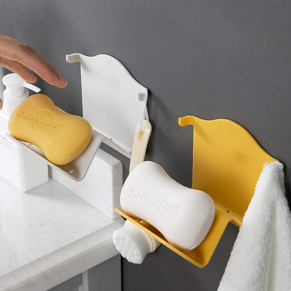 Cucina portasapone da Appendere con Design a Forma di W per Doccia BSTOB Portasapone in plastica a Parete Bagno