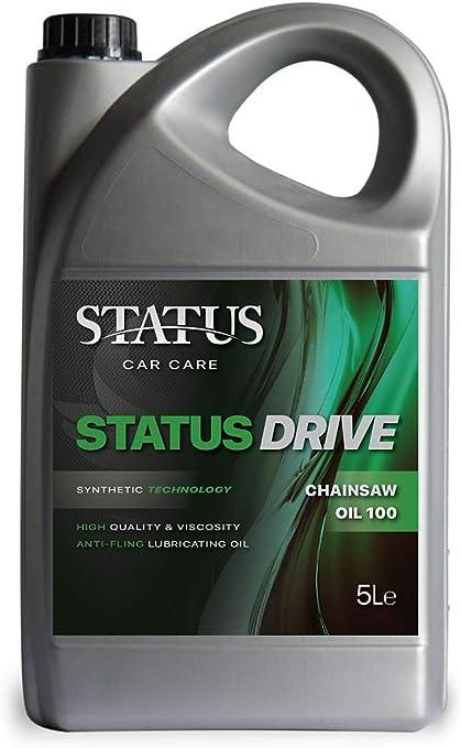 Status Car Care - Aceite para Cadena de Coche, 100 5 L, Ideal para Motosierra de Gasolina y eléctrica, 5 L: Amazon.es: Coche y moto