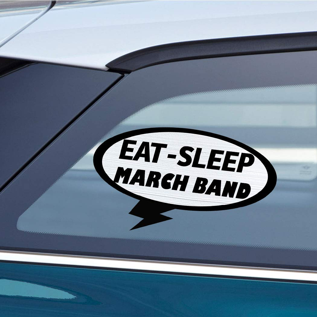 Amazon com eat sleep march band sport car laptop wall sticker decal 3 5by6small or 5by9large automotive
