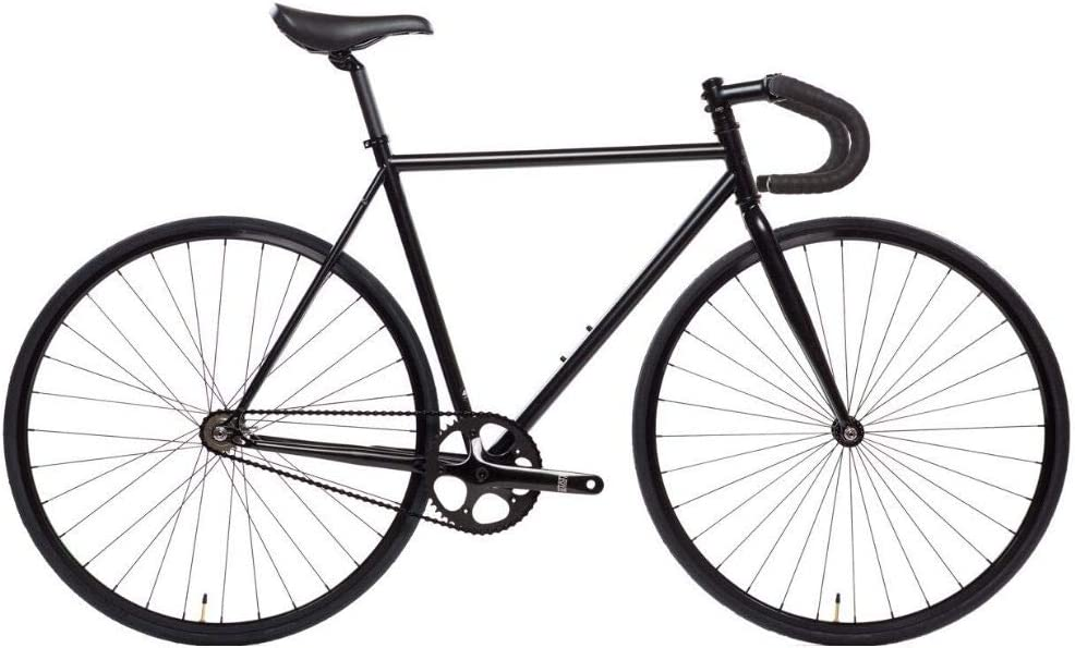 State Bicycle 4130 - The Matte Black | Double Butted Grade Chromoly Steel - Fixed Gear/Single Speed | 49cm Drop Bar