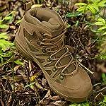 FREE SOLDIER Homme Tactique Bottes Mid High Rise Chaussures de Randonnée d'hiver Bottes de Cuir 10