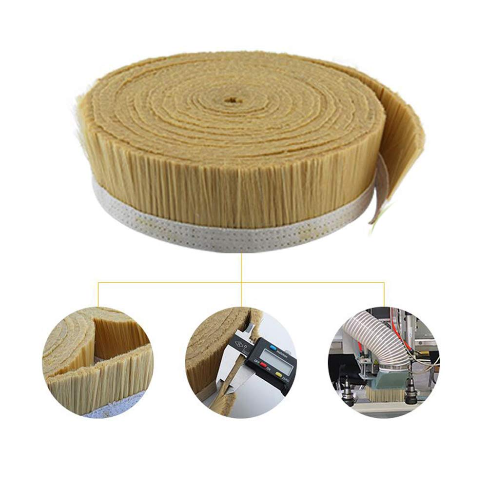 100mm Brush Vacuum Cleaner Engraving Machine Dust Cover for CNC Router Spindle Motor Milling Machine (Vacuum Brush) (1M/100mm, Brown)