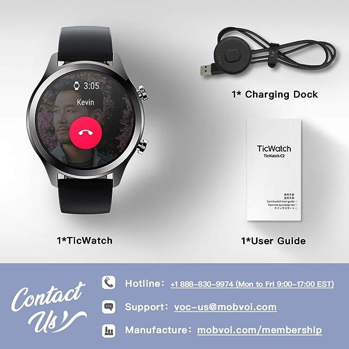 Mobvoi TicWatch C2, Wear OS by Google Classic Smartwatch ...
