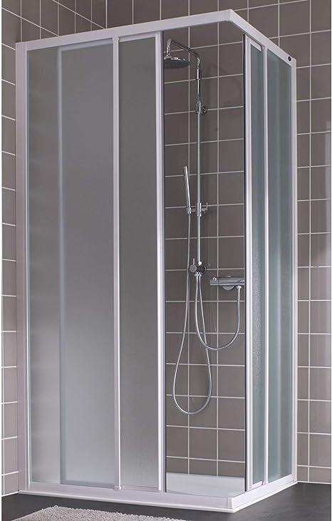 Mampara de ducha D?Ángulo deslizante vidrio apariencia Atout 2 Leda, dimensiones (cm): 90 x 190 cm: Amazon.es: Hogar