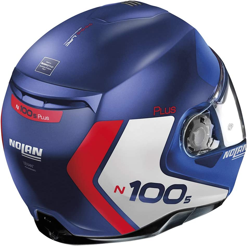Casco N100-5 P Distive Flat Imperector Blue M Nolan