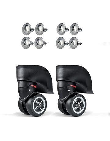 Rueda de repuesto Vanyda para maleta de equipaje, color negro, diámetro externo