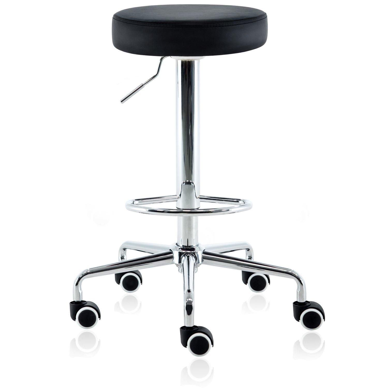 DR.LOMILOMI Hydraulic Rolling Swivel Tall Clinic Massage Bar Stool Chair 507