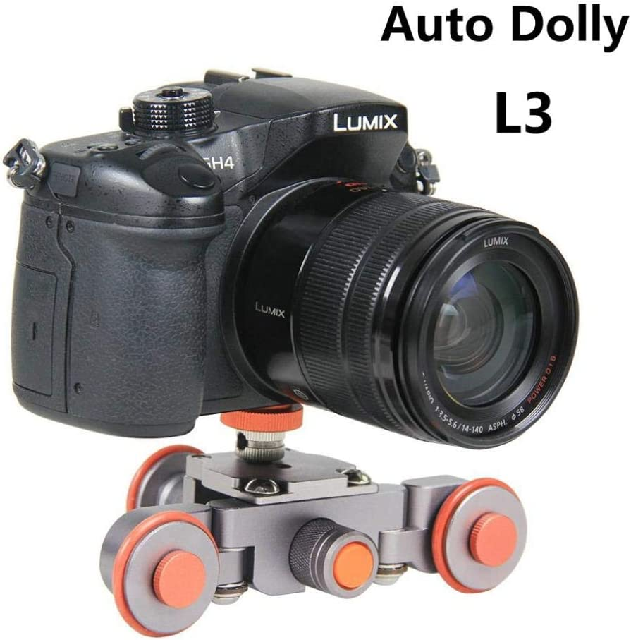 1//4 to 3//8 Screw Holes Curve Shooting Load Capacity up to 6 KG // 13.23 lbs YELANGU Cambee L3 Video Camera Motorized Dolly 4-9 Hours Battery Life 360-degree Rotation Front /& Back Bi-Direction