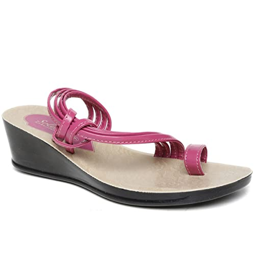 6b77276afe33 PARAGON SOLEA Women s Pink Sandals  Buy Online at Low Prices in India -  Amazon.in