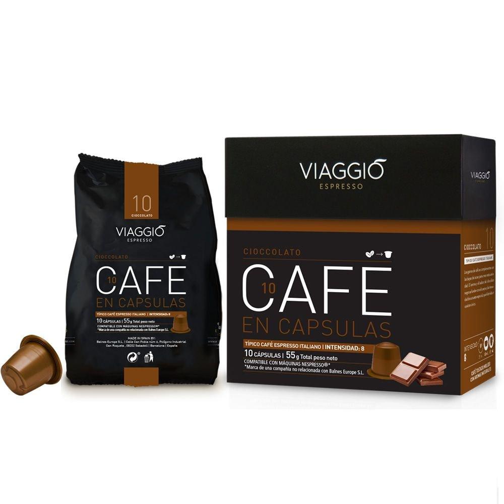 VIAGGIO ESPRESSO - 120 Cápsulas de Café Compatibles con Máquinas Nespresso - CIOCCOLATO: Amazon.es: Alimentación y bebidas