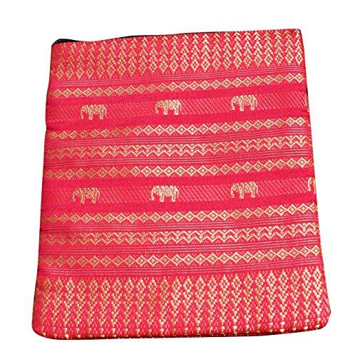 Funk Big Yellow Cerise Full Elephant 5x6inch Dark Long Tribe Goldenrod Cord Pouch Silk Hill Pink Thai Throwover fxBqdFx