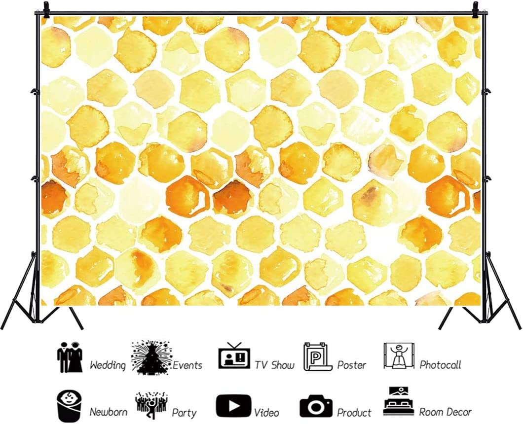Yeele Honeycomb Photography Backdrop 7x5ft Baby Shower Party Decoration Background Kindergarten Activity Wild Baby Shower Party Table Decor Photo Booth Digital Wallpaper